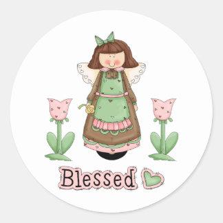 Blessed Angel 3 Classic Round Sticker