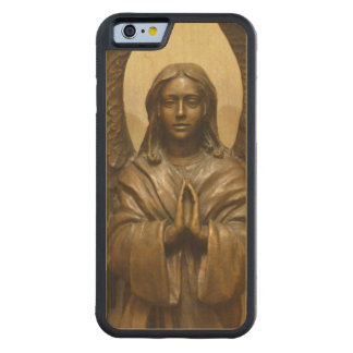 Blessed Angel Carved Maple iPhone 6 Bumper Case