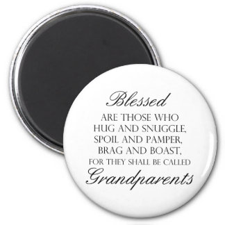 Blessed Are... Grandparents 2 Inch Round Magnet