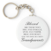 Blessed Are... Grandparents Keychain