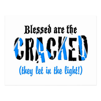 Blessed are the CRACKED Postcard