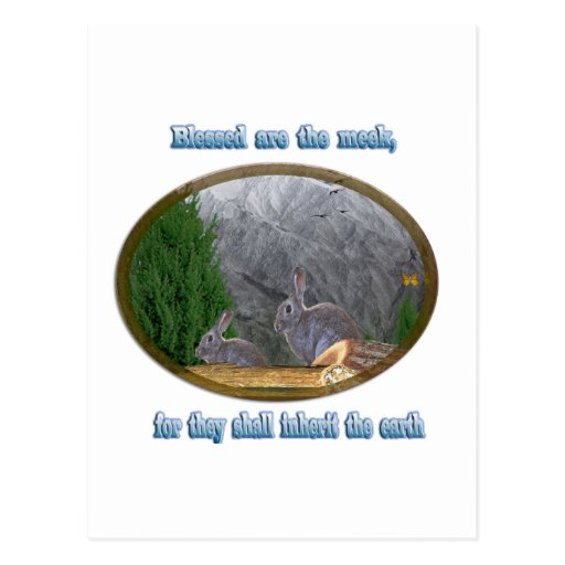 blessed are the meek postcard