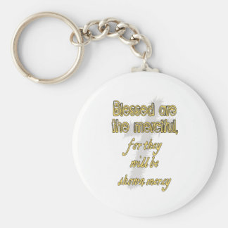 Blessed Are The Merciful Basic Round Button Keychain