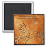 Blessed are the Peacemakers 2 Inch Square Magnet