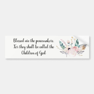 Blessed Are The Peacemakers Boho Bumper Sticker
