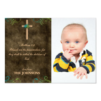 Blessed are the Peacemakers Christ Christian 5x7 Paper Invitation Card