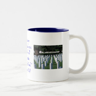 Blessed are the peacemakers...Military Two-Tone Coffee Mug