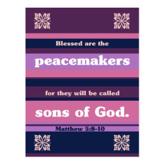 Blessed are the Peacemakers Postcard