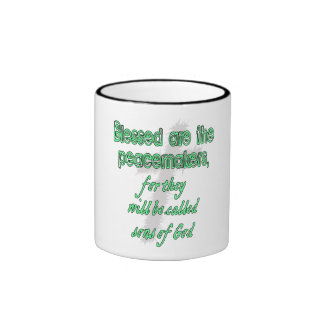 Blessed Are The Peacemakers Ringer Mug