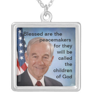Blessed are the peacemakers... silver plated necklace
