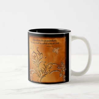 Blessed are the Peacemakers Two-Tone Coffee Mug