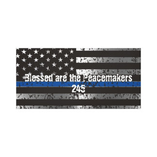 Blessed are the Peacemakers with Badge Number Canvas Print