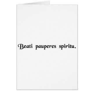 Blessed are the poor in spirit card