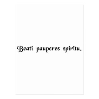 Blessed are the poor in spirit postcard