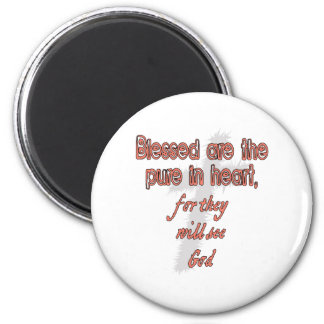 Blessed Are The Pure in Heart 2 Inch Round Magnet