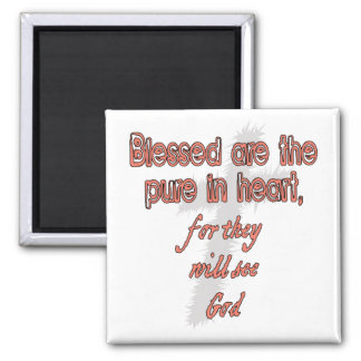 Blessed Are The Pure in Heart 2 Inch Square Magnet