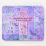 Blessed are the pure in heart BIBLE VERSE Mouse Pad