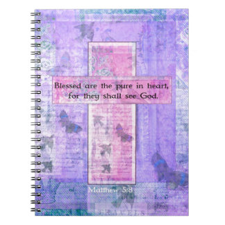 Blessed are the pure in heart BIBLE VERSE Notebook