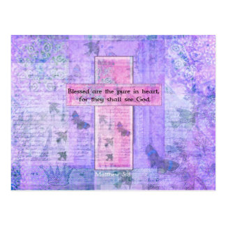 Blessed are the pure in heart BIBLE VERSE Postcard
