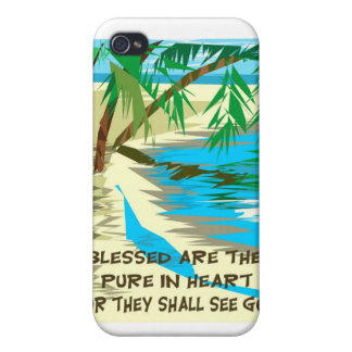 Blessed are the pure in heart iPhone 4 cases