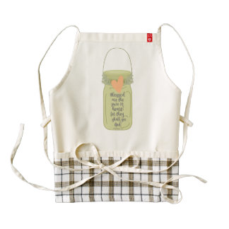 Blessed are the Pure in Heart Mason Jar Zazzle HEART Apron