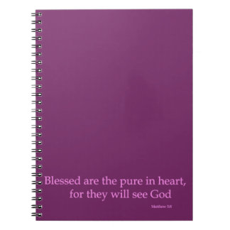 Blessed are the pure in heart(Matthew 5:8) Spiral Notebook
