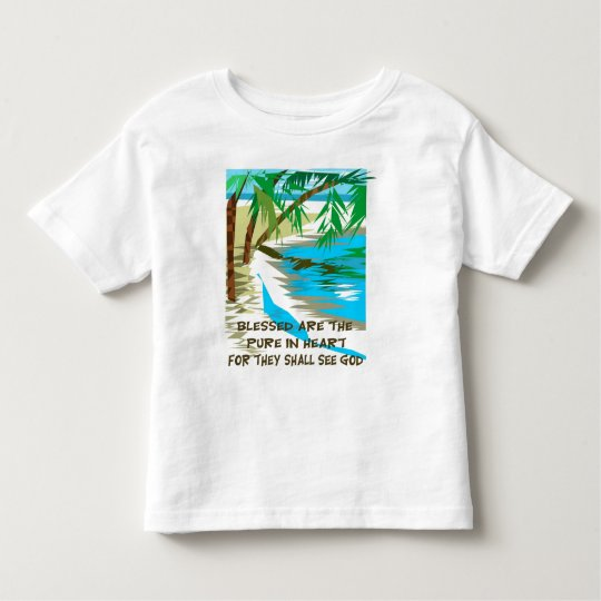Blessed are the pure in heart toddler t-shirt