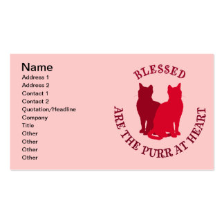 Blessed Are The Purr At Heart Business Card Template