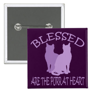 Blessed Are The Purr At Heart Pins