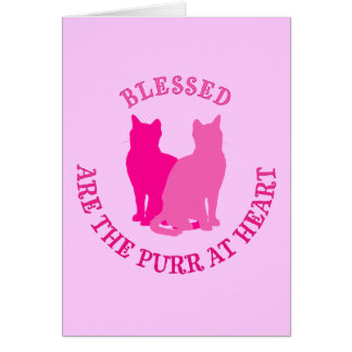 Blessed Are The Purr At Heart Card
