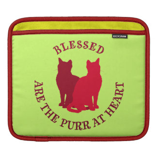 Blessed Are The Purr At Heart iPad Sleeve