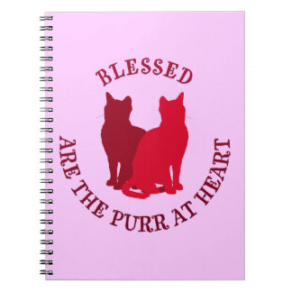 Blessed Are The Purr At Heart Note Books