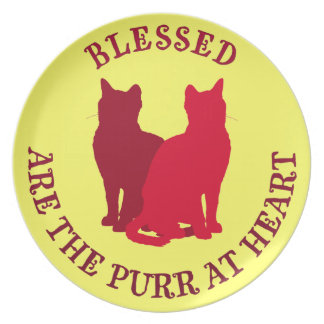 Blessed Are The Purr At Heart Party Plates