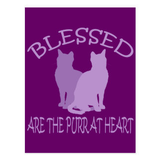 Blessed Are The Purr At Heart Post Card