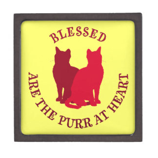 Blessed Are The Purr At Heart Premium Jewelry Boxes