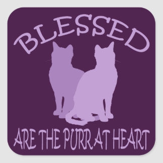 Blessed Are The Purr At Heart Stickers