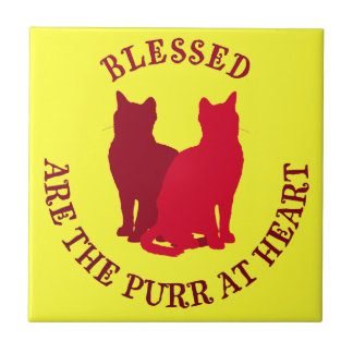 Blessed Are The Purr At Heart Ceramic Tiles