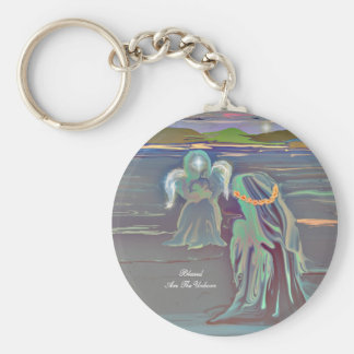 Blessed Are The Unborn Basic Round Button Keychain