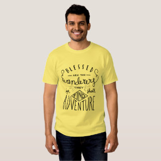 Blessed are the Wanderers Hand Lettered Men's T-Shirt