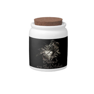 Blessed are the Witches Candy jar