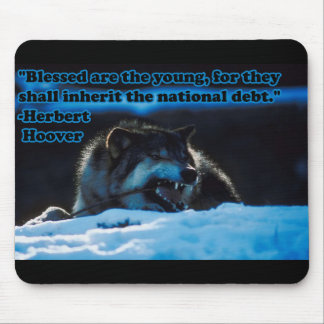 Blessed are the Young Mouse Pad