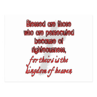 Blessed Are Those Who Are Persecuted Postcard