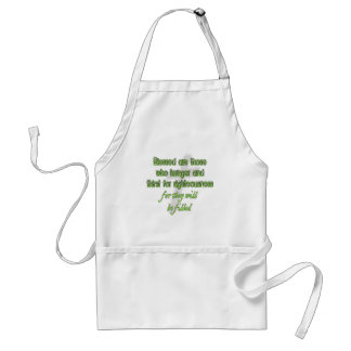 Blessed Are Those Who Hunger Adult Apron
