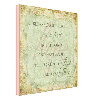 Blessed are Those Who trust in the Lord Canvas