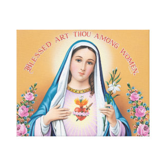 Blessed art thou among women canvas print