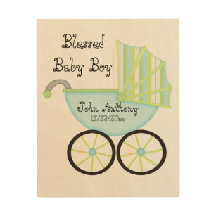 Blessed With Boy Nursery Art Wall Décor Zazzle