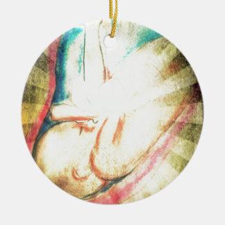 Blessed Baby Ceramic Ornament