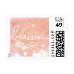 Blessed Baby Girl Birth or Pregnancy Announcement Postage