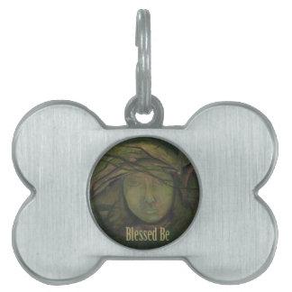 Blessed Be Art Statue Witch Angel Pet Tags