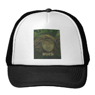 Blessed Be Art Statue Witch Angel Trucker Hat